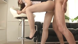 foot-fetish fuck high-heels nylon panties skirt stocking upskirt