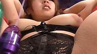 bus busty chick dildo bbw hot japanese masturbation slave