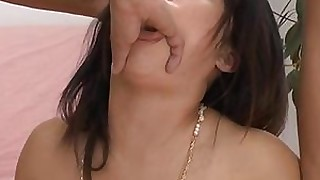 ass japanese licking milf rimming squirting threesome wild