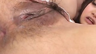 hairy japanese pussy wet