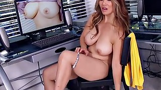 masturbation mammy brunette big-tits beauty toys milf mature