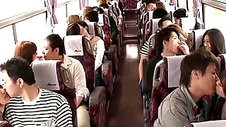 babe blowjob brunette bus cumshot group-sex handjob hot japanese