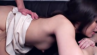 ass blowjob brunette doggy-style fuck hairy japanese