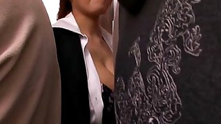 big-tits blowjob big-cock cumshot hot japanese public sucking train