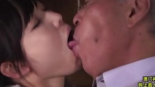 bathroom brunette cute bbw fetish japanese kiss licking old-and-young